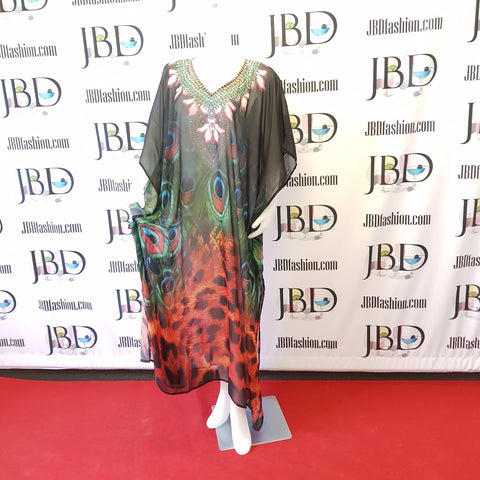 Animal Inspired Long Kaftan