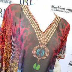 Animal Inspired Short Kaftan - JBD