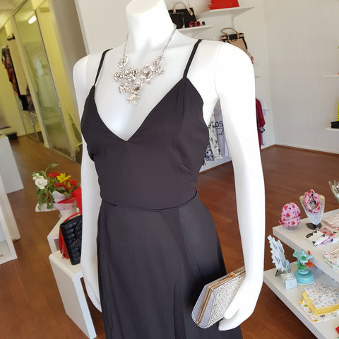 Black Cross Back Dress - JBD