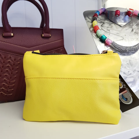 Tay Yellow Clutch / Sidebag
