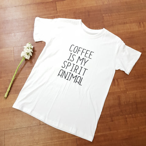 Coffee Is My Spirt Animal T-Shirt