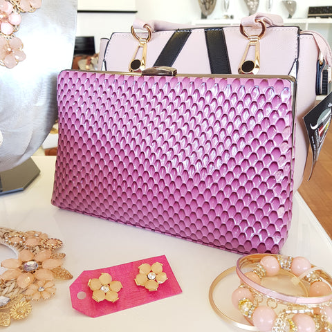 Darcy Pinky Purple Clutch
