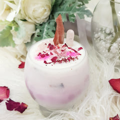 Enchanted Skye Candle - Rose Quartz & Red Calaite - JBD