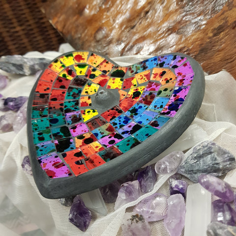 Incense Burner Heart - Rainbow - JBD