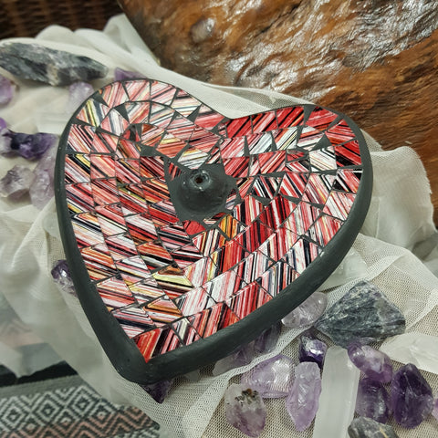 Incense Burner Heart - Red - JBD