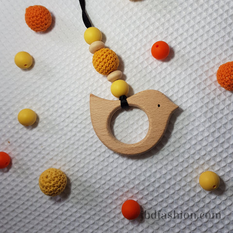 Bird Teething Necklace