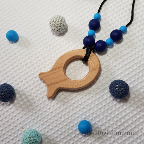 Fish Teething Necklace