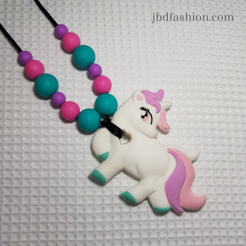 Unicorn 1 Teething Necklace