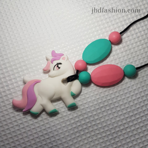 Unicorn 2 Teething Necklace