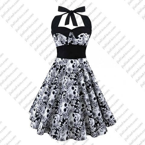Reduced to Clear - Rockabilly Skull Dress - JBD