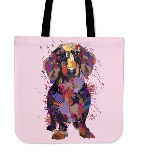 Dachshund Portrait Tote Bag