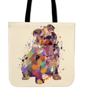 English Bulldog Portrait Tote Bag