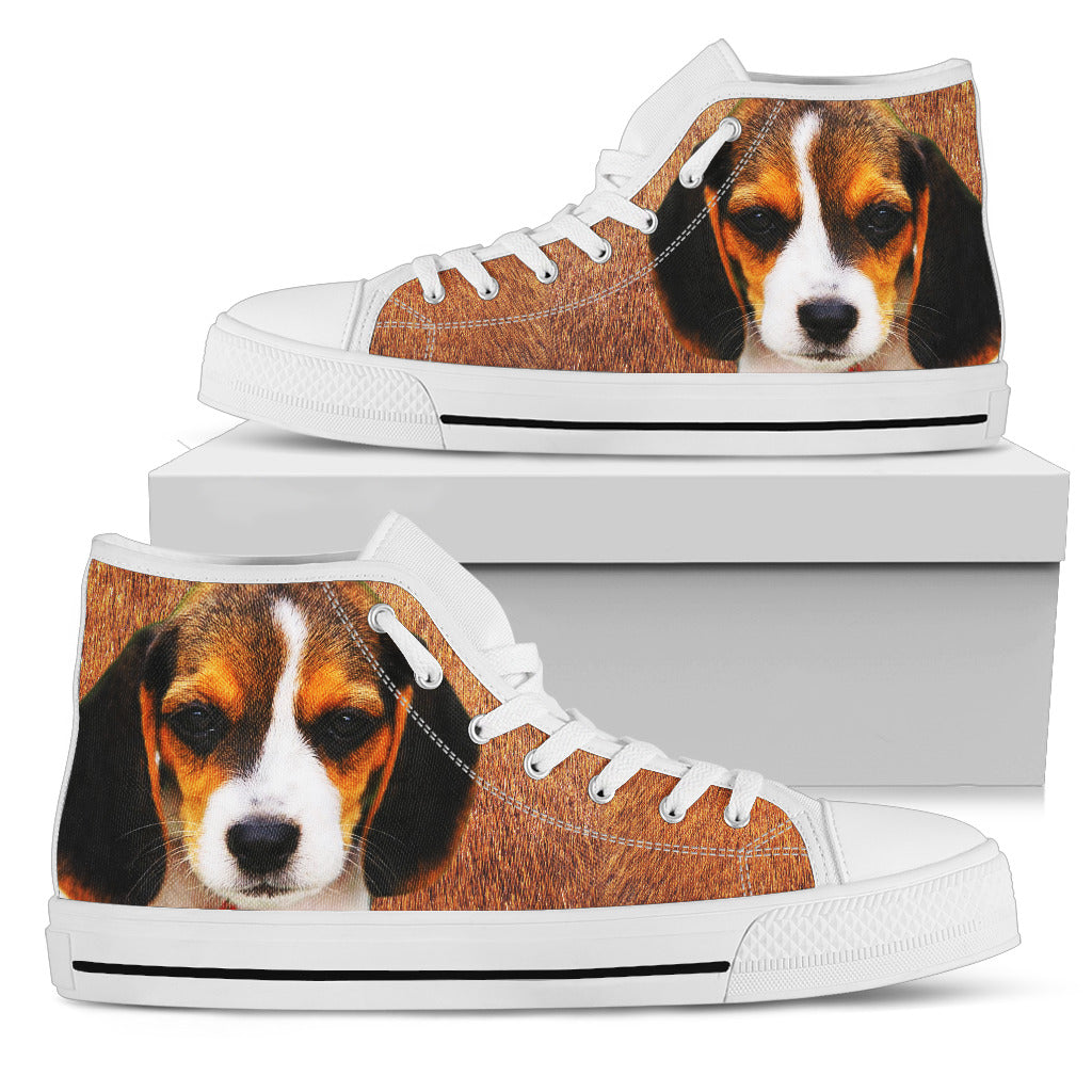 Beagle Puppy Women's High Top Sneakers