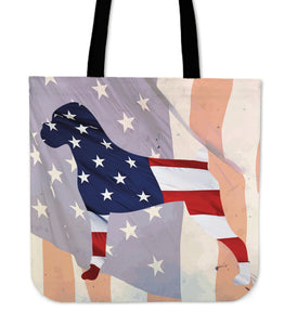 Patriotic Boxer Tote Bag
