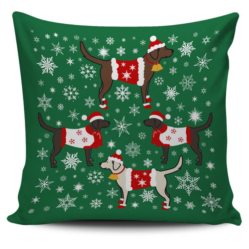 Lab Xmas Pillow Cover