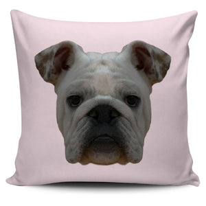Bulldog Face Pillow Cover