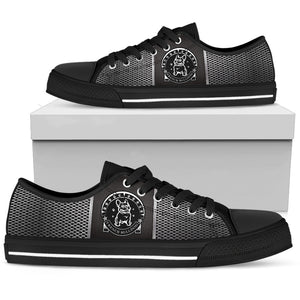 French Bulldog Men's Low Top Shoes (Black)