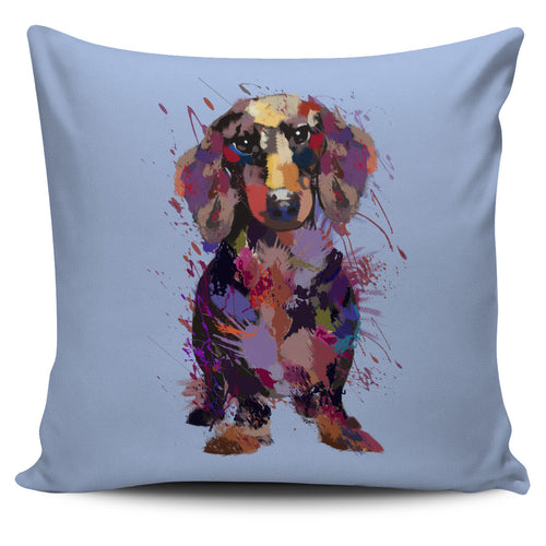 Dachshund Portrait Pillow Cover