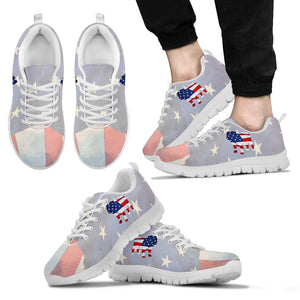 Patriotic Bulldog Men's Sneakers