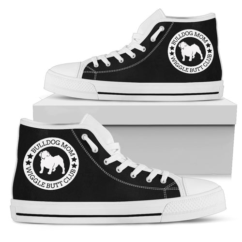 Bulldog Mom Women's High Top Sneakers