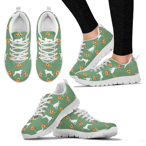 White Boxer's Pizza Women's Sneakers
