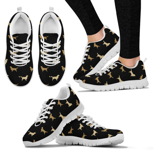Golden Retriever Pattern Women's Sneakers