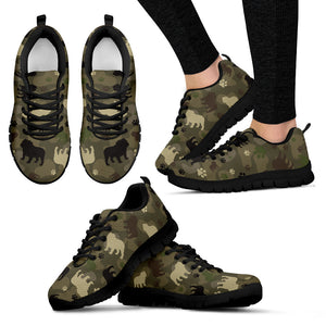 Bulldog Camo Women's Sneakers