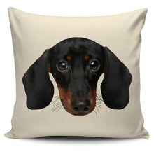 Dachshund Face Pillow Cover