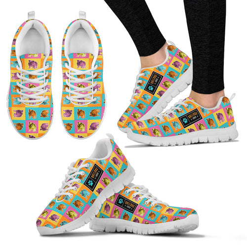 Bulldog Pop Art Women's Sneakers