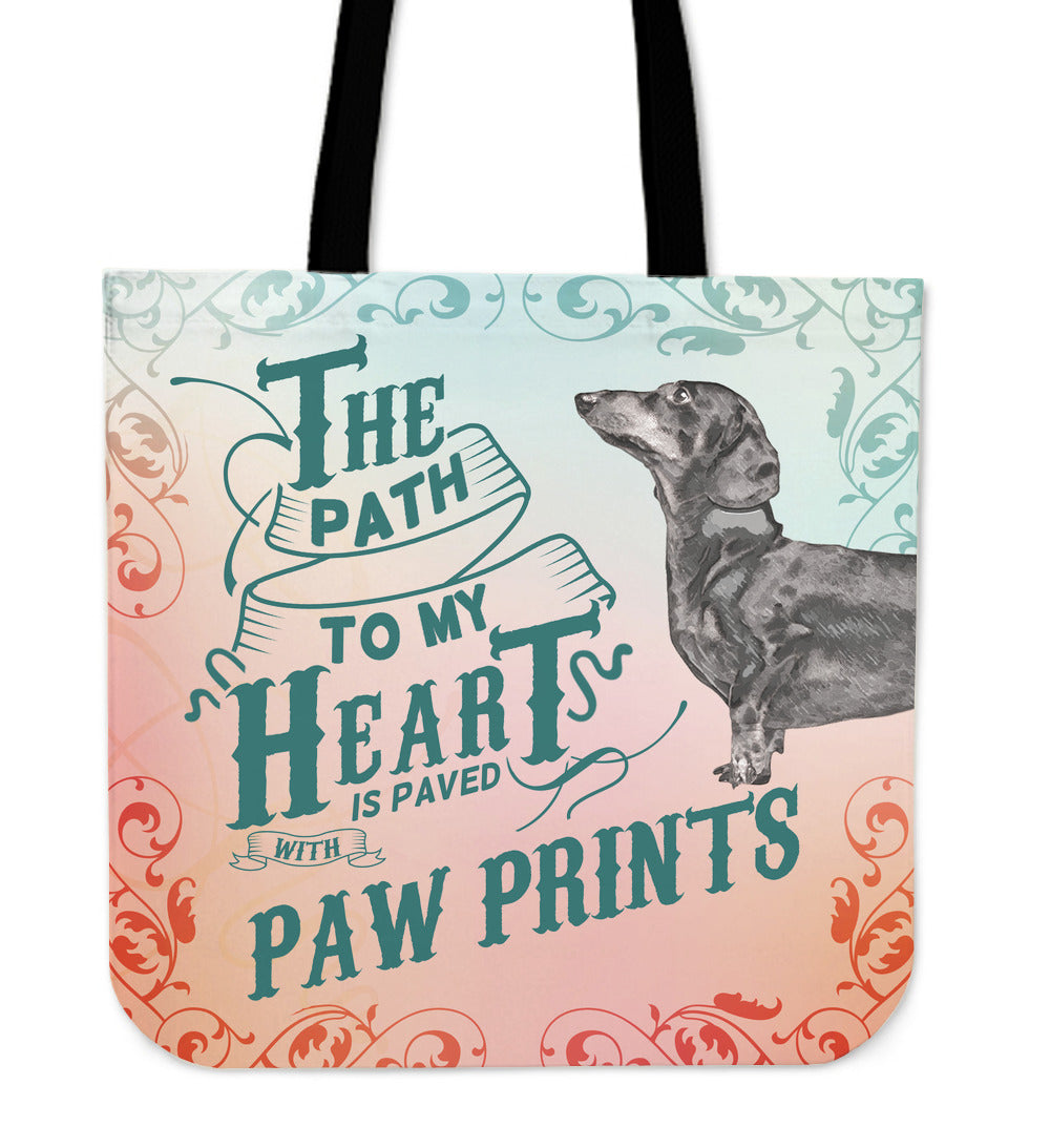Path to My Heart (Dachshund) Tote Bag