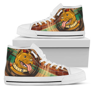 Happy Pit Bull Women's High Top Sneakers
