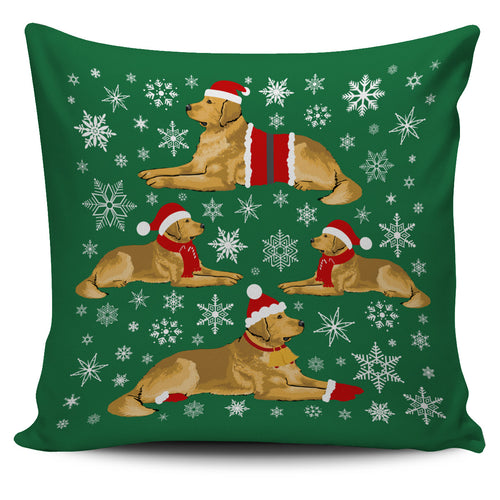 Golden Xmas Pillow Cover