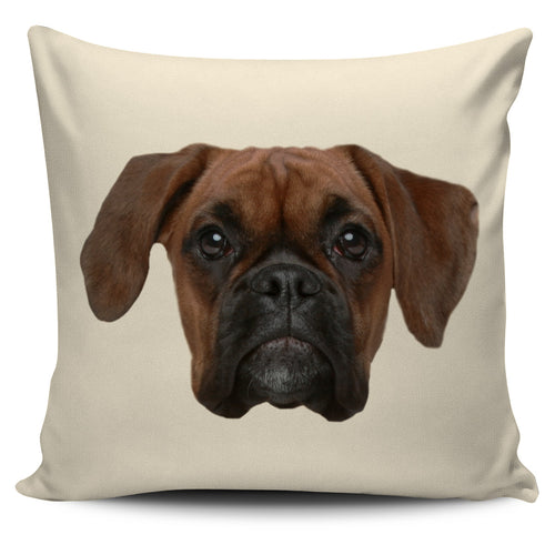 Boxer Face Pillow Cover