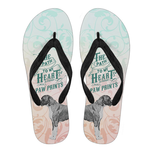Path to My Heart (Boxer) Women's Flip Flops