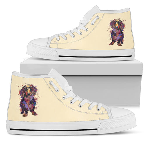 Dachshund Portrait Women's High Top Sneakers