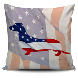 Patriotic Dachshund Pillow Cover