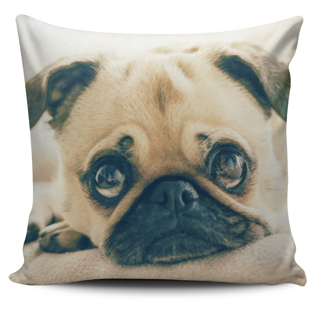 Pug Puppy Pillow Cover
