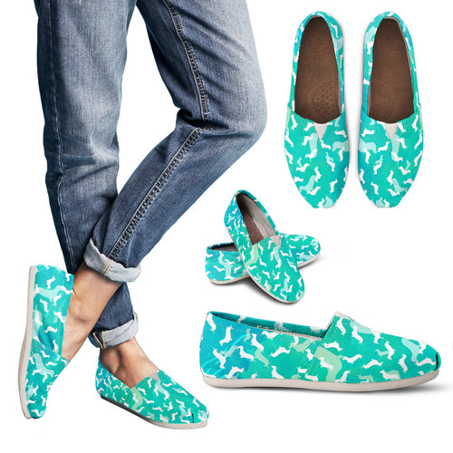 Dachshund Aqua Women's Casual Shoes