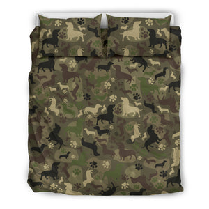 Dachshund Camo Bedding Set