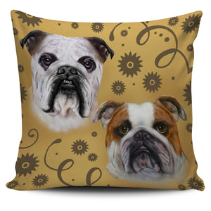 Bulldog Breed Pillow Cover