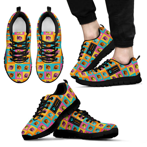 Men's Colorful Bulldog Sneakers