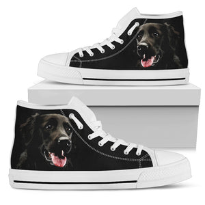 Black Labrador Retriever Women's High Top Sneakers