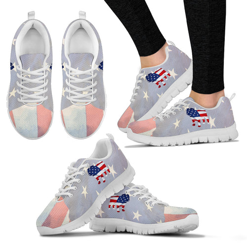 Patriotic Bulldog Women's Sneakers