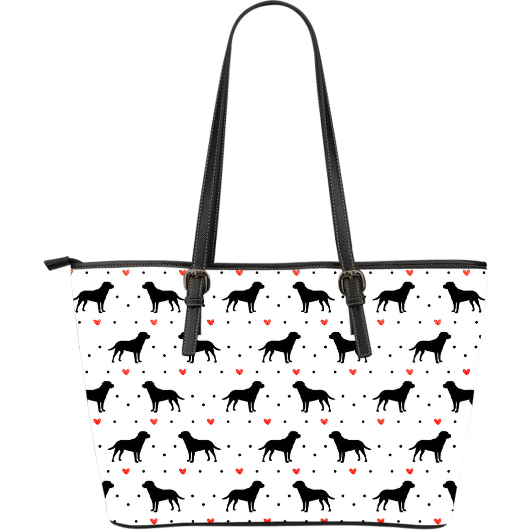 Lab Love Large Leather Tote Bag