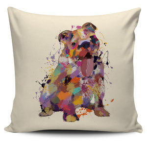 English Bulldog Portrait Pillow Cover