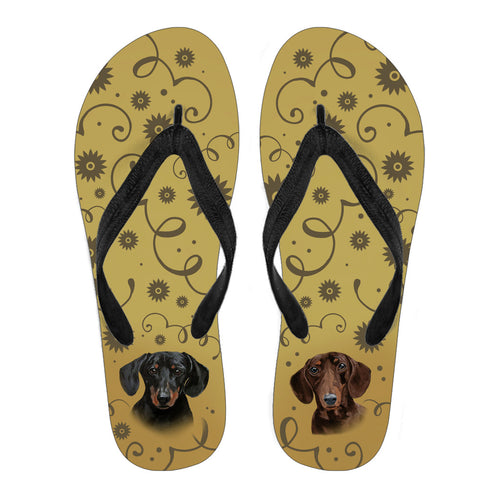 Dachshund Breed Women's Flip Flops