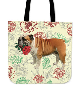 Bulldog Rose Tote Bag
