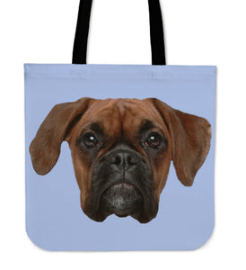 Boxer Face Tote Bag