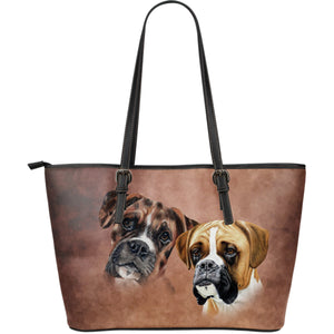 Boxer Breed Large Leather Tote Bag