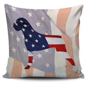 Patriotic Boxer Pillow Cover